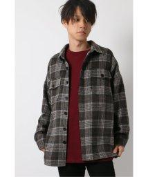 VENCE EXCHANGE/フラップオーバーシルエットチェックシャツ/502791570