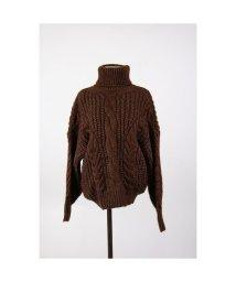 STYLE H/ざっくり 大きな ニットセーター ハイネック ケーブル編み シンプル 暖かいトップス 韓国ファッション/502792054