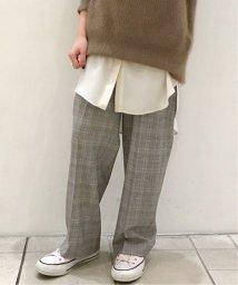 Spick & Span/裏起毛チェックストレートパンツ◆/502792288