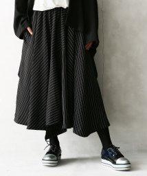 osharewalker/『kOhAKUストライプ切替アシメ立体スカート』/502794125