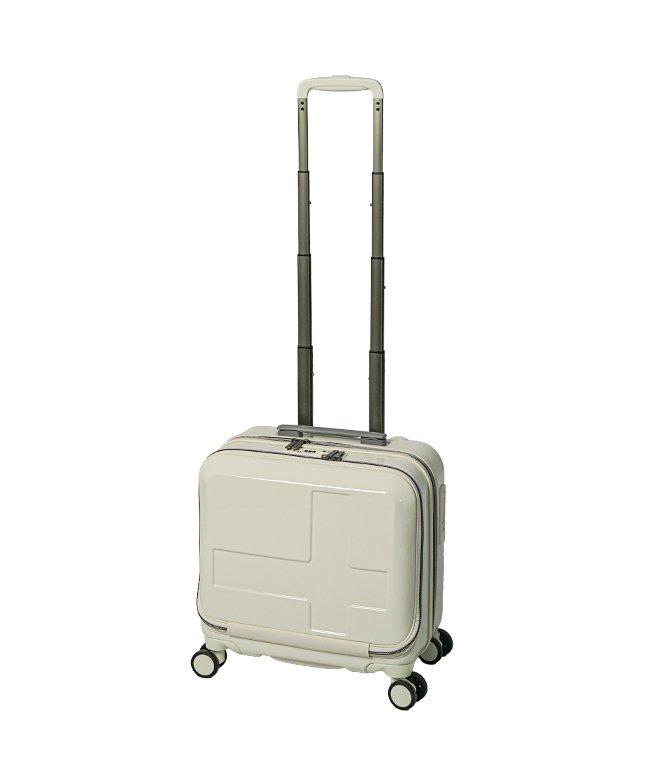 カバンのセレクション イノベーター スーツケース ビジネスキャリーバッグ 機内持ち込み 33L Sサイズ フロントオープン ストッパー innovator INV36 メンズ アイボリー フリー 【Bag & Luggage SELECTION】