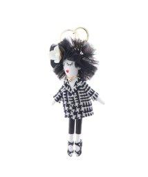 VitaFelice/ヴィータフェリーチェ VitaFelice バッグチャーム ドール バッグチャーム 人形 キーホルダー きらきら バッグのアクセサリー (B)/502795001