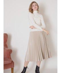 MIELIINVARIANT/Eco Leather Pleat Skirt/502795197
