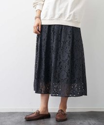 Rouge vif la cle/フラワーコードレーススカート【予約】/502795233