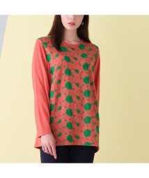 Fitme moi/あったかベルマーフラワー刺繍Tシャツ/502795236
