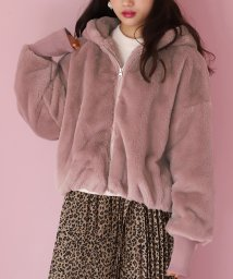 NICE CLAUP OUTLET/【one after another】【ZOO】ジップアップファーフーディー/502775443