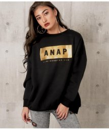 ANAP/ANAPボックスロゴ裏起毛プルオーバー/502780058
