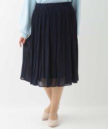 eur3/【大きいサイズ】シフォンプリーツスカート/502796300