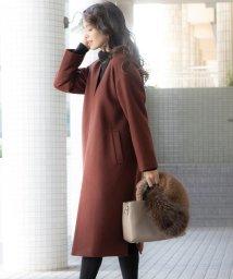 Viaggio Blu/【WEB別注】ウールペコラムメルトンコート/502796707