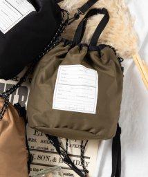 WEGO/WEGO/ミリタリー2WAY巾着バッグ/502589912