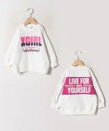 X-girl Stages/裏起毛 ビックロゴ配色ロゴトレーナー/502780870