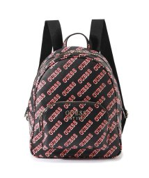 GUESS/ゲス GUESS HAIDEE LARGE BACKPACK (BLACK MULTI)/502802389