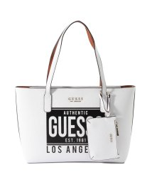 GUESS/ゲス GUESS WILDER TOTE (WHITE MULTI)/502802397