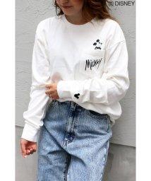 VENCE EXCHANGE/Disney(ディズニー)ミッキーポケット刺繍ロングスリーブT/502802535