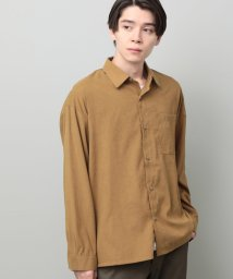 JUNRed/起毛ツイルダブルポケットシャツ/502559196