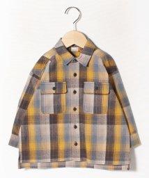 petit main/ビッグシルエットチェックシャツ/502789951