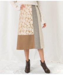Alluge/異素材パッチワークデザインスカート/502802710