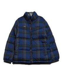 GUESS/ゲス GUESS TRIANGLE LOGO REVERSIBLE DOWN JACKET (BLUE)/502804052