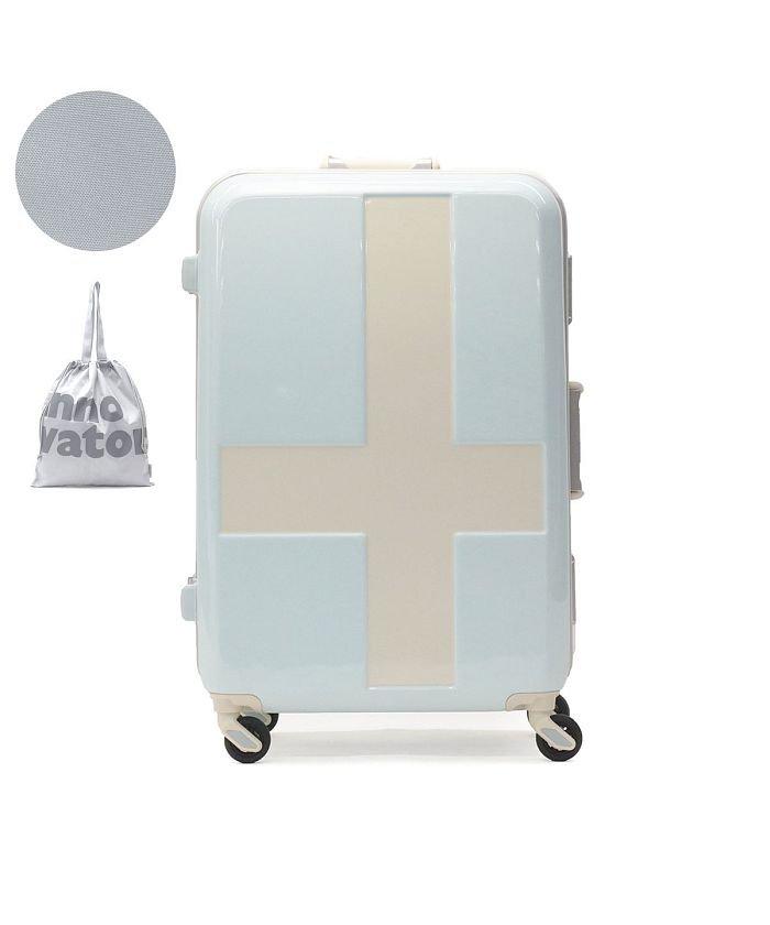 ギャレリア イノベーター スーツケース innovator キャリーケース フレーム 軽量 旅行 INV58T(60L 3〜5日 Mサイズ) ユニセックス ライトブルー F 【GALLERIA】