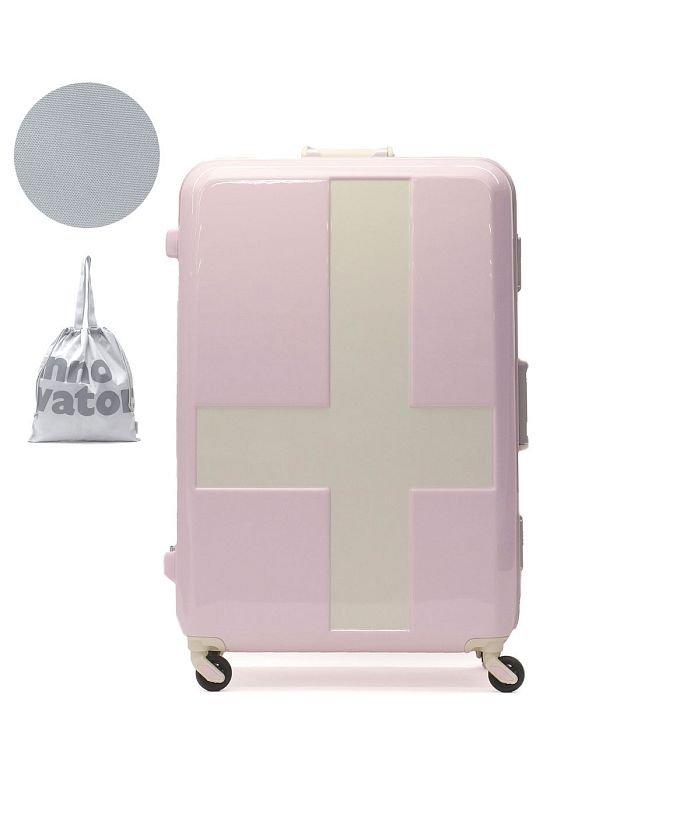 ギャレリア イノベーター スーツケース innovator キャリーケース フレーム 軽量 旅行 INV68T(90L 7〜10日 Lサイズ) ユニセックス ライトピンク F 【GALLERIA】