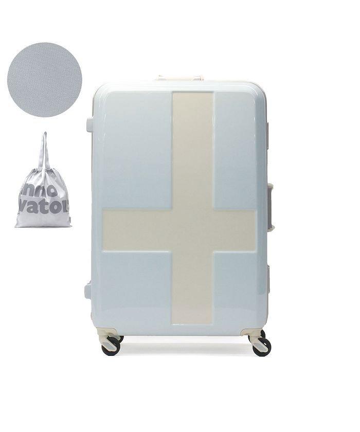 ギャレリア イノベーター スーツケース innovator キャリーケース フレーム 軽量 旅行 INV68T(90L 7〜10日 Lサイズ) ユニセックス ライトブルー F 【GALLERIA】