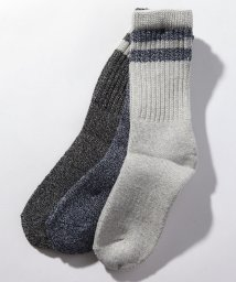 MARUKAWA/【Heaithknit】25-27CM ヘルスニット クルー2本ラインソックス 靴下 3足セット/502748663