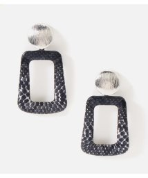 AZUL by moussy/PYTHON SQUARE EARRING/502804456