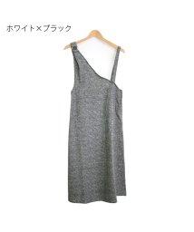 Rejoule/シンプルチェック ワンショルジャンスカ/502804651
