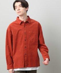 JUNRed/細コールリラックスシャツ/502805029