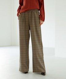 marjour/CHECK WIDE PANTS/502807240