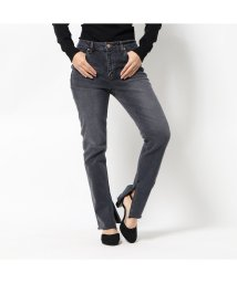 GUESS/ゲス GUESS CUT-OFF STRAIGHT DENIM PANT (GREY)/502807342