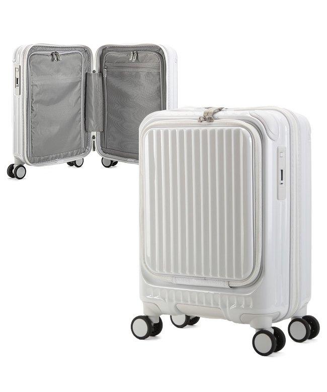 カバンのセレクション カーゴ エアレイヤー スーツケース 機内持ち込み フロントオープン SSサイズ/22L ストッパー機能 CARGO AiR LAYER cat235ly ユニセックス ホワイト フリー 【Bag & Luggage SELECTION