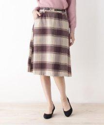 grove/ビットベルト付きAラインスカート/502633933