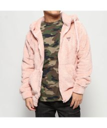 GUESS/ゲス GUESS BOA HOODED ZIP UP PARKA (LIGHT PINK)/502809872