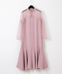 GRACE CONTINENTAL/レース切替ドレス/502810317