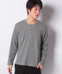 STYLEBLOCK/ワッフルヘンリーネックロングTシャツ/501518128