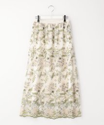 Ravissant Laviere/フラワー刺繍レーススカート/502796193