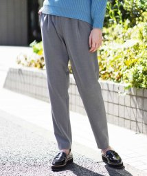 MICHEL KLEIN/【裏起毛/洗える】ドロストタックパンツ/502810555