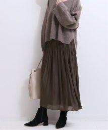NOBLE/《追加予約5》シャイニーギャザースカート◆/502811951