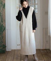 ViS/【WEB限定】ヘリンボーンジャンパースカート/502813637
