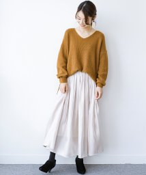 haco!/【裏地付き】【人気色追加】1枚でも重ね着にも便利なキラキラ素材がかわいいロングスカート by laulea/502314566