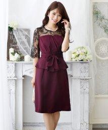 PourVous/ペプラムレースデザインドレス・結婚式・お呼ばれワンピース・パーティードレス/502709752