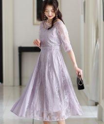 PourVous/ラップスカートプリーツドレス・結婚式・お呼ばれワンピース・パーティードレス/502709754
