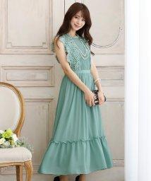 PourVous/シフォン&レースワンピース・結婚式ドレス・お呼ばれパーティードレス/502709765