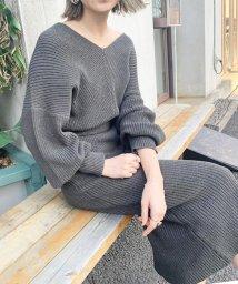 UNRELISH/抜襟ニットワンピース/502788447