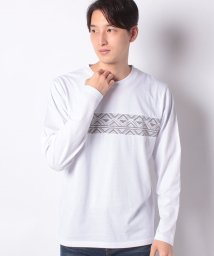 nano・universe/:総柄ネイティブプリントTシャツ LS/502803012