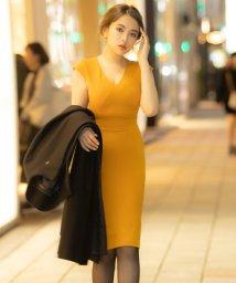 AMBIENT/Vネックデザインタイトドレス/502816660
