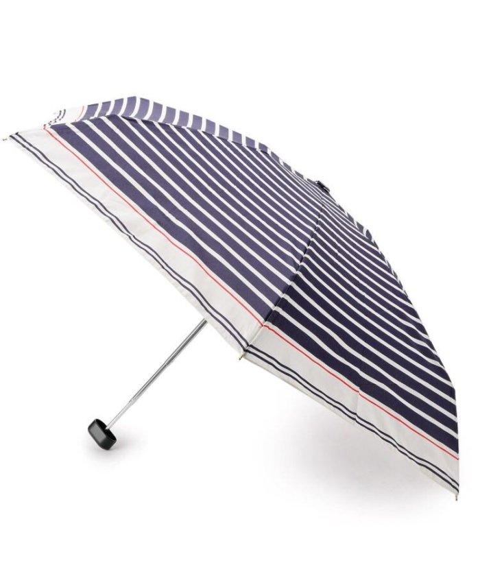 配色ボーダー折りたたみ傘