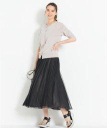 JIYU-KU(LARGE SIZE)/【新色追加】チュールプリーツ リバーシブルスカート(検索番号A47)/502822859