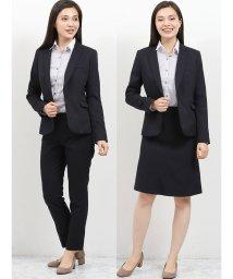 m.f.editorial/高機能ポリエステル 1釦ジャケット+スカート+スラックス ヘリンボン紺/502518323